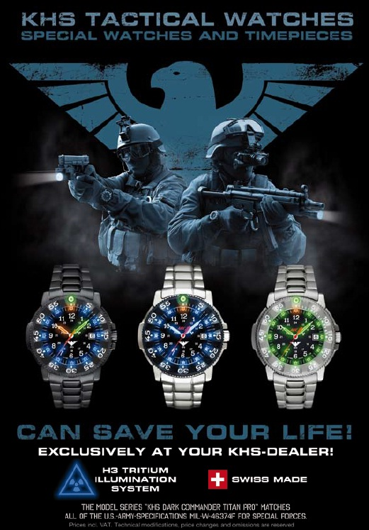 KHS Tactical Gear: часы спецназа из Германии