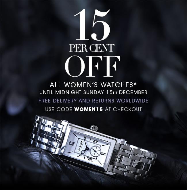 Christopher Ward. Скидка 15% на все женские часы