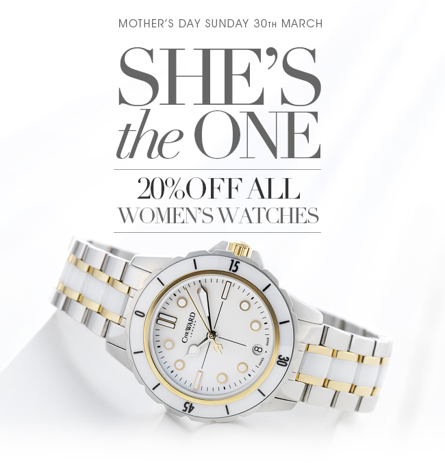 Christopher Ward: -20% на все женские часы