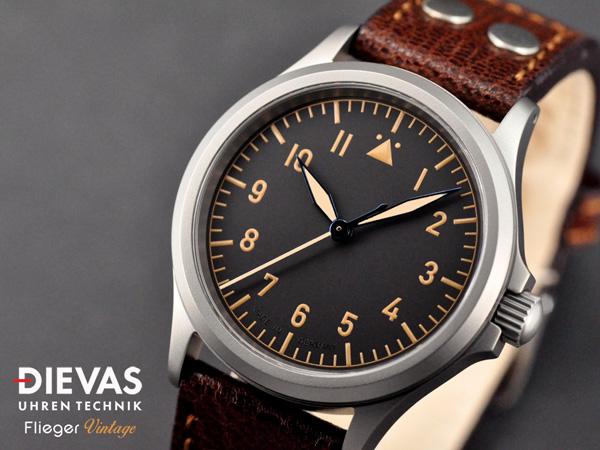 Dievas Flieger Vintage — немецкие ретро часы