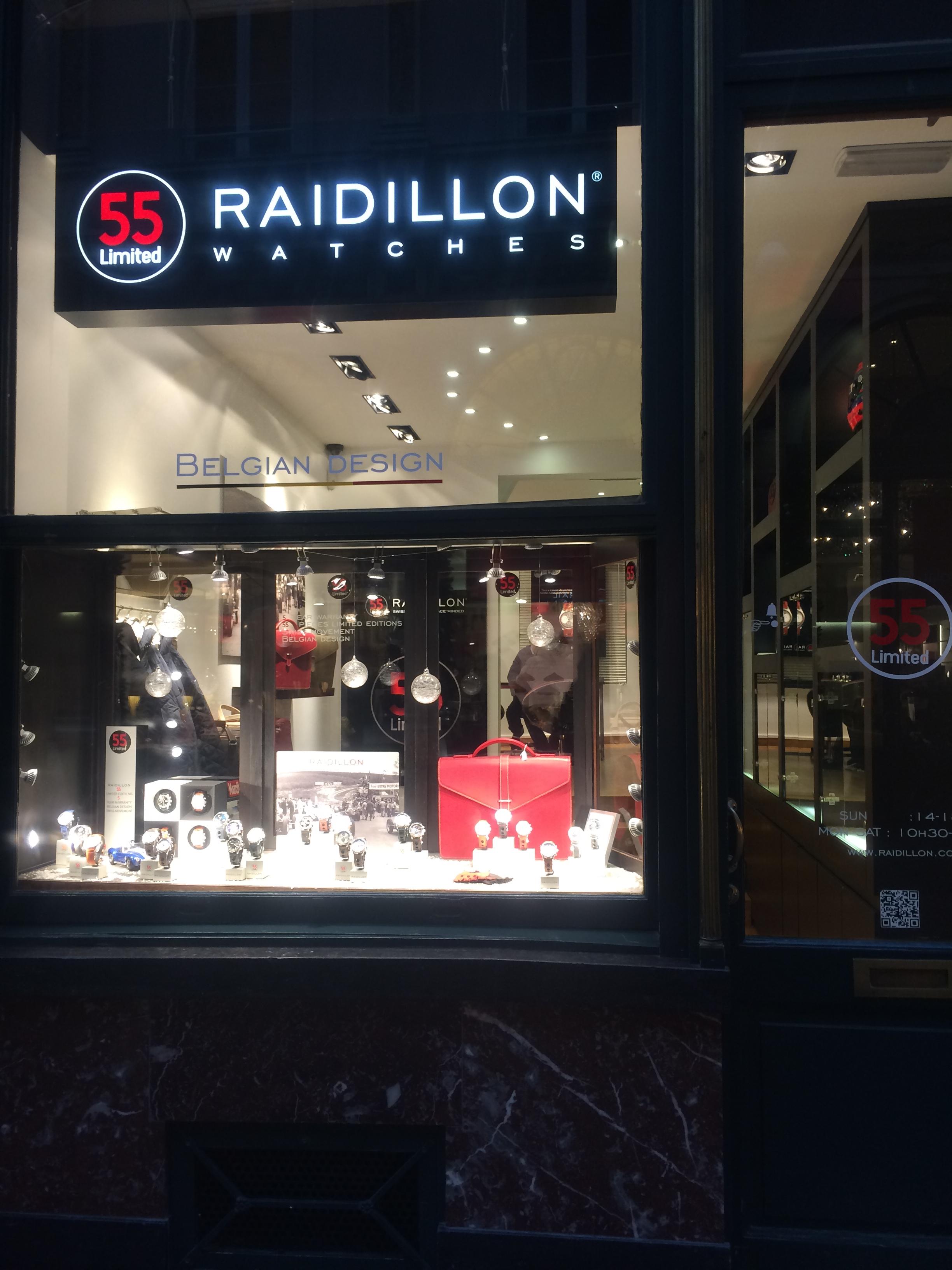 Магазин часов марки Raidillon в Брюсселе