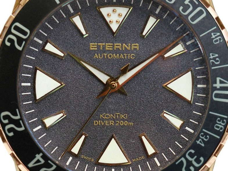 Бронзовый дайвер Eterna KonTiki Bronze Manufacture