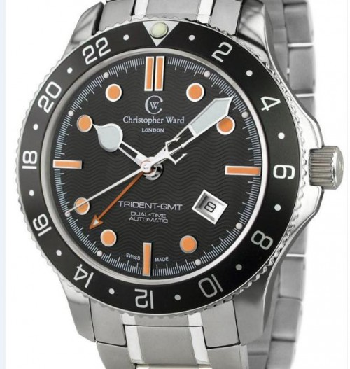 Christopher-Ward-C60-GMT-Trident-steel-bracelet-500x527