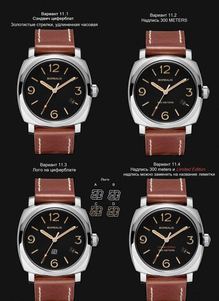 Borealis 11 variants