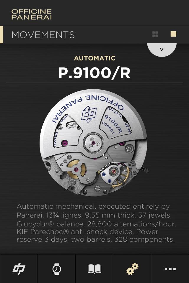 Часовые приложения для App Store: Panerai
