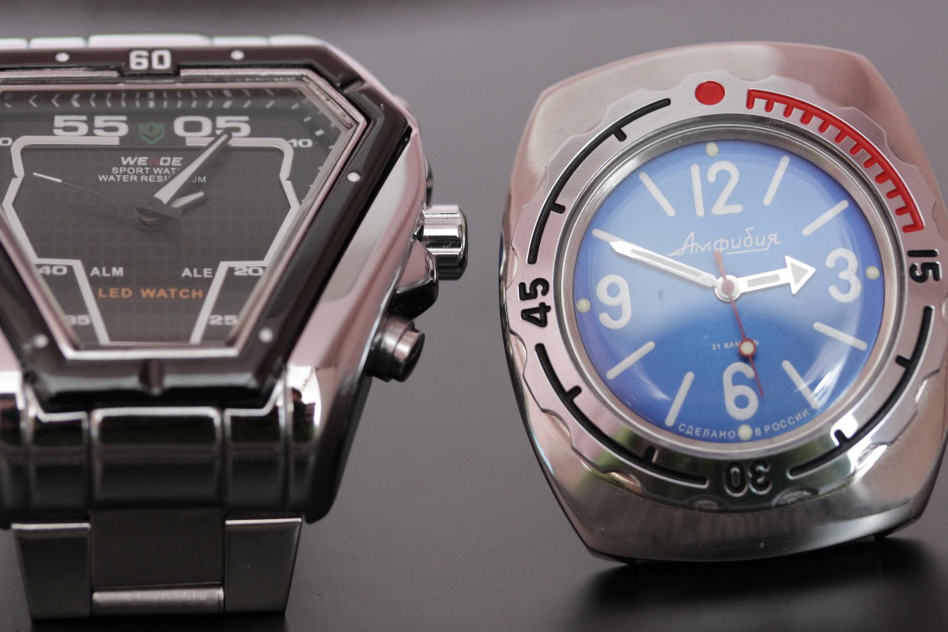 В продаже тестовые часы Восток Амфибия и Weide: цена снижена!