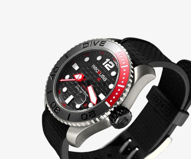 Американские часы-дайверы с кристаллами Сваровски