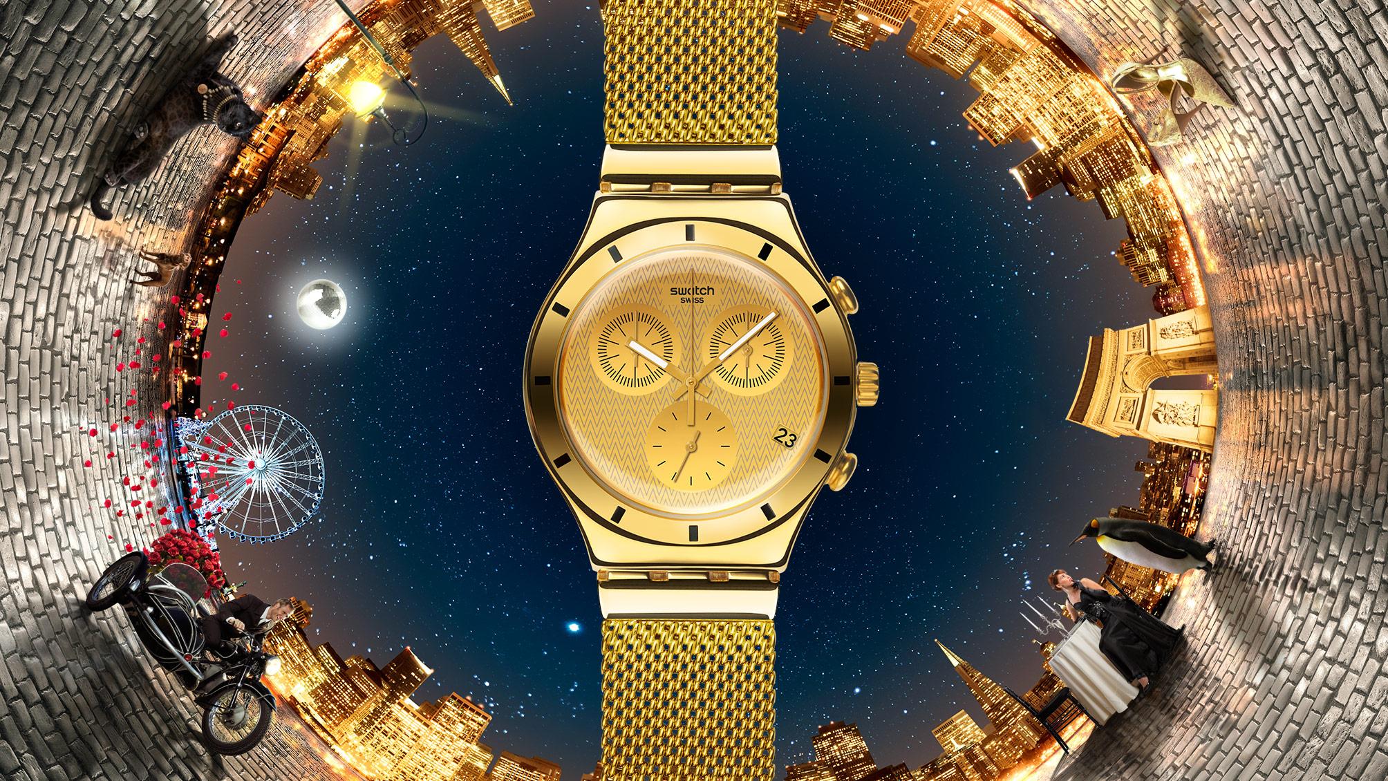 Гламурные золотые часы от Swatch? Куда катится мир!