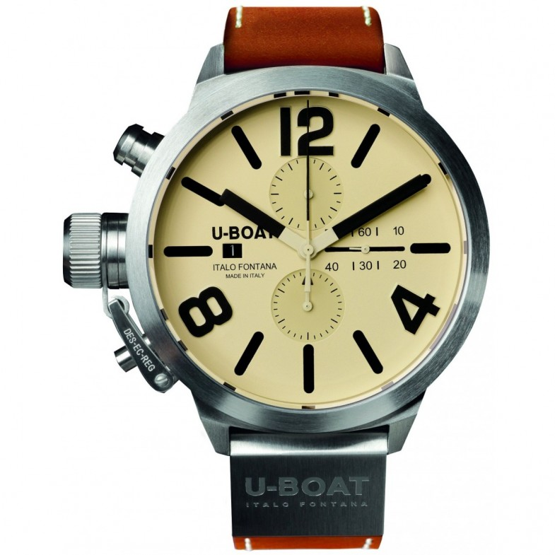u-boat-classico-mechanical-chronograph-53-mm-beige