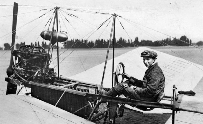 первом аэроплане Spider