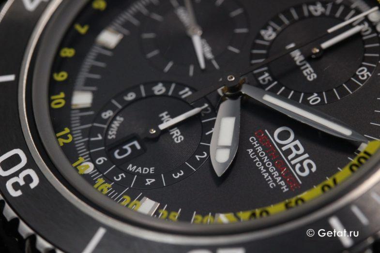 Oris Aquis Depth Gauge - обзор хронографа с глубиномером