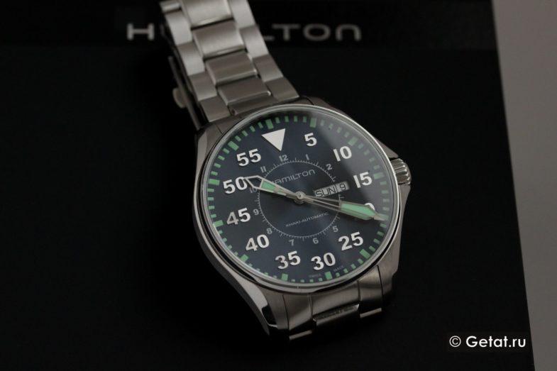Hamilton Khaki Aviation Day Date Auto - обзор пилотов