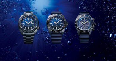 Серия «спасателей океана» в черном от Seiko