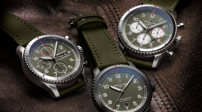 Хаки коллекция Breitling Aviator 8 Curtiss Warhawk