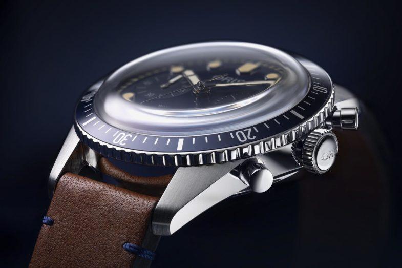 Винтажный дайверский хронограф Oris Divers Sixty-Five Chronograph Bucherer Blue Editions