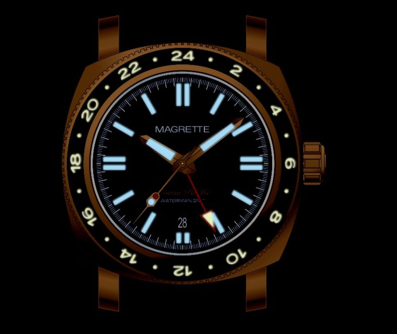 Magrette Moana Pacific Waterman – бронза, сталь и GMT
