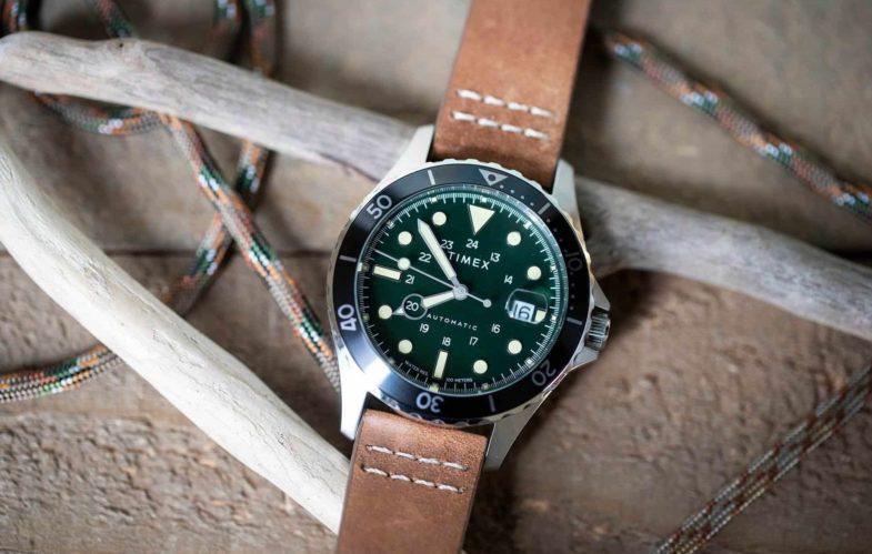 Дайвер в милитари стиле от Timex