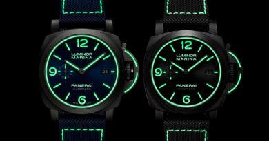 Panerai Luminor Marina PAM01117 и Carbotech PAM01118