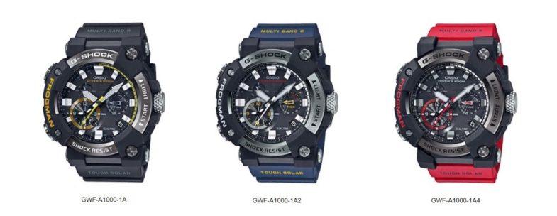 Аналоговая серия Casio G-Shock Frogman GWF-A1000