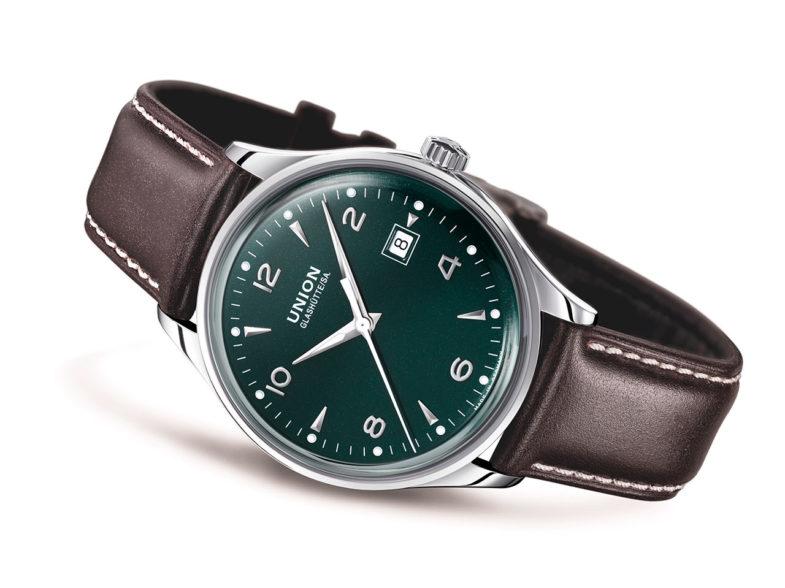 Британский зелёный с немецким акцентом у Union Glashütte Noramis Date