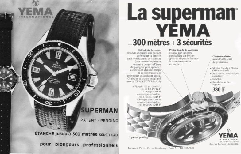 Свежие модели Yema – для дайверов и пилотов