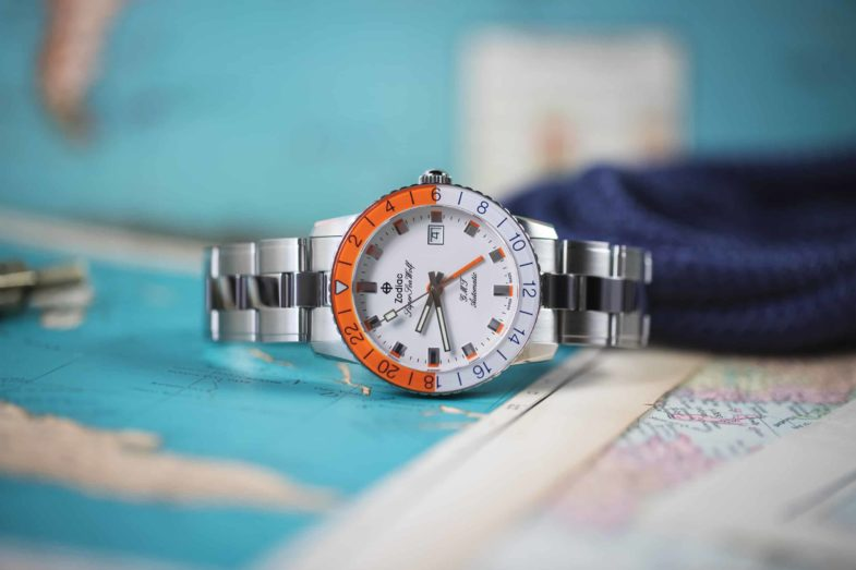 Zodiac Super Sea Wolf GMT Sherbet – яркий вкус лета