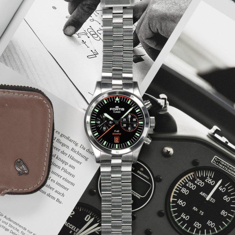 Хронограф Fortis Flieger F-43 Bicompax