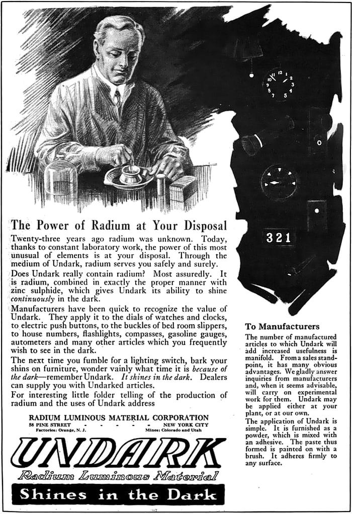Вечное сияние циферблата и Par Weber. История часовой подсветки