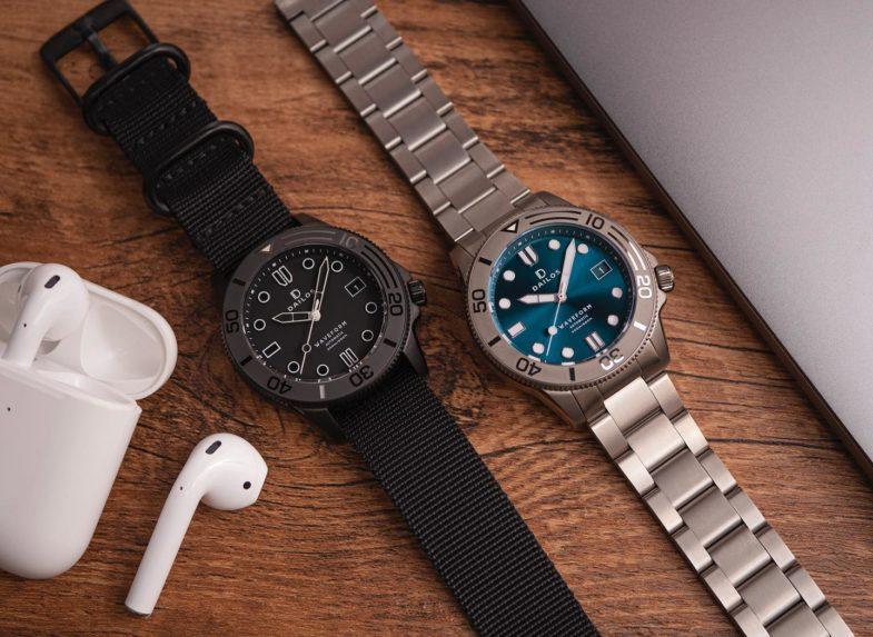 Dailos Waveform – часы из упрочнённого титана на Kickstarter