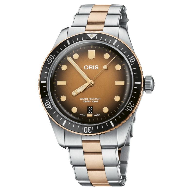 Oris Divers Sixty-Five – осенний закат над морем