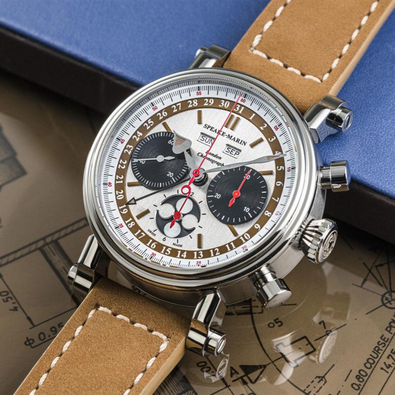 Лимитка на винтажном механизме Speak-Marine London Chronograph Triple Date