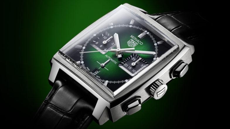TAG Heuer Monaco Green Dial Calibre Heuer 02 – зелёный болид