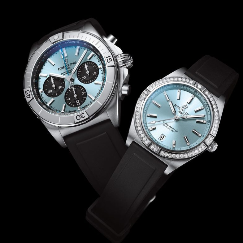 Женская и мужская новинки Breitling Chronomat Chronomat Ice Blue