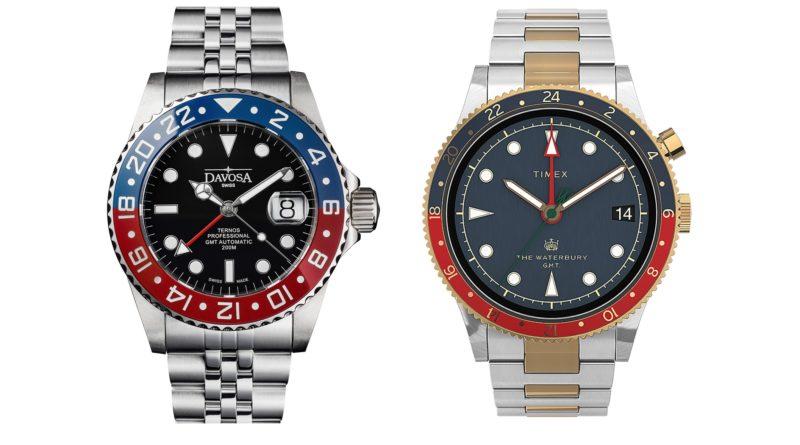 Пепси! Davosa Ternos Professional TT GMT и Timex Waterbury Traditional GMT