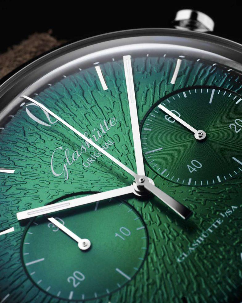 Хронограф с рельефным градиентным циферблатом от Glashütte Original