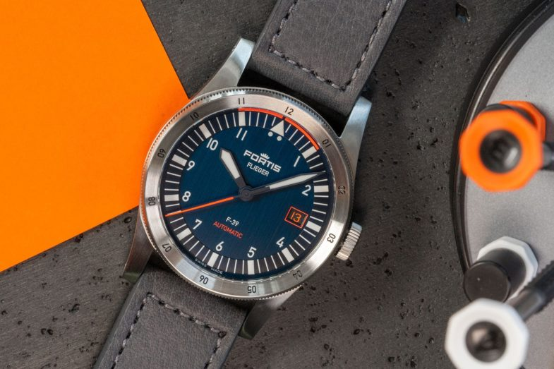 Тёмно-синие пилоты Fortis Flieger F-41 и F-39 Midnight Blue